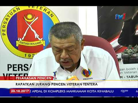 Bajet 2018 Pelarasan Pencen Rapatkan Jurang Pencen Veteran Tentera Pvatm 20 Okt 2017 Youtube