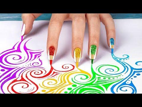 10 лайфхаков для ногтей / Нейл-арт канцелярией