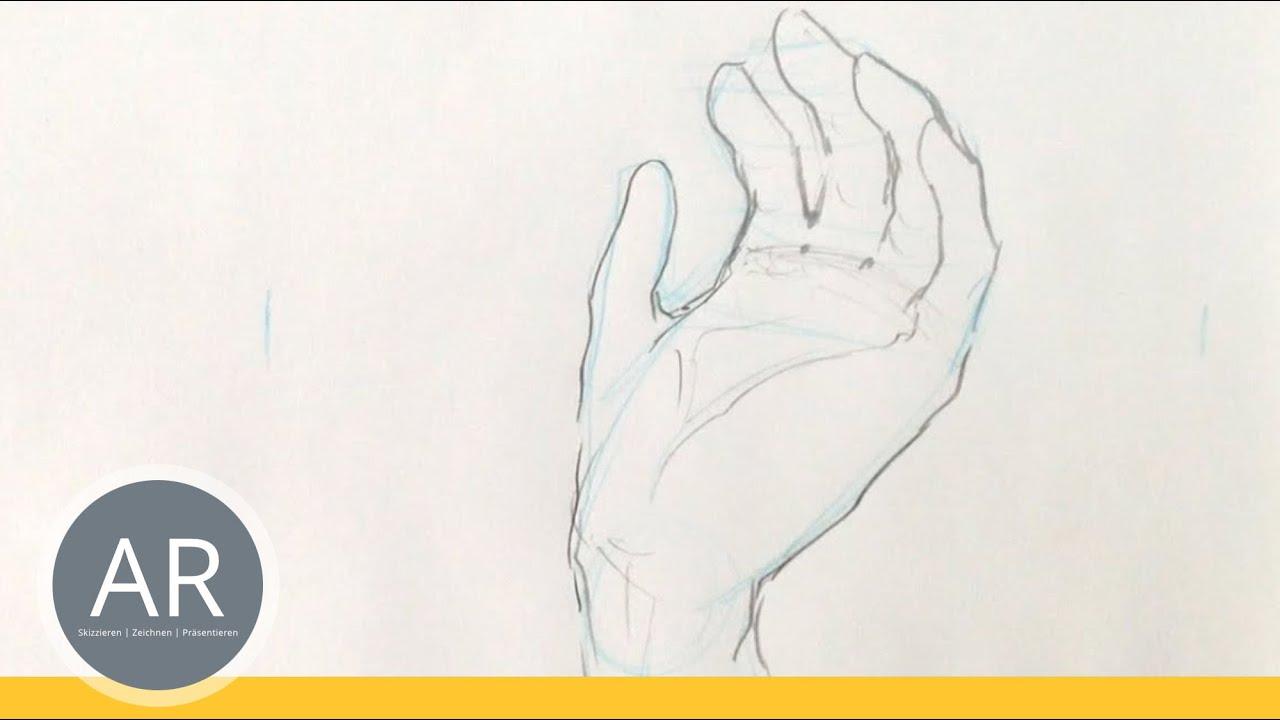 Hände Zeichnen Tutorial Hand Etwas Haltend Youtube