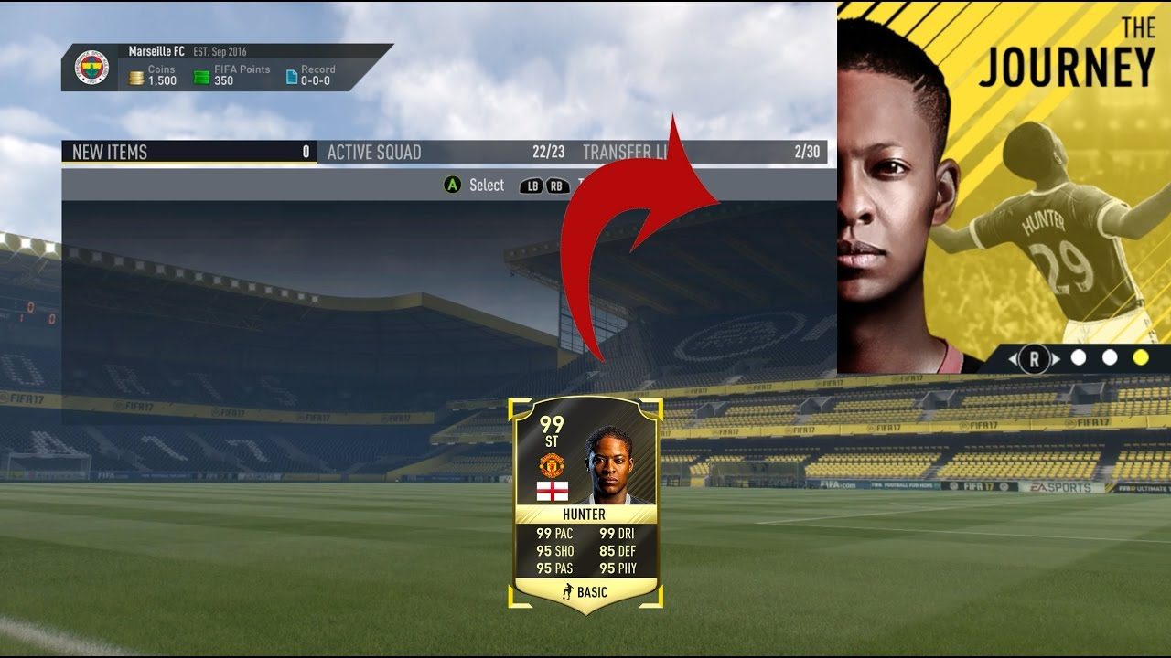 ... Alex Hunter in THE JOURNEY?? (Fifa 17 The Journey Cheat) - YouTube