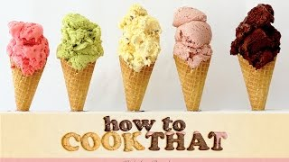 Ice Cream Recipes HOW TO COOK THAT Ann Reardon starburst chocolate