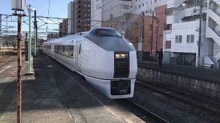 JR東日本651系常磐線普通列車いわき駅入線