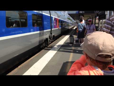 TGV coming through Libourne, France en-route to Bordeaux