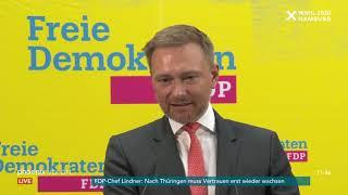 Fdp-pressekonferenz u.a. mit christian lindner zur hamburgwahl am 24.02.20