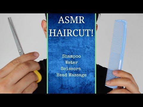 ASMR Haircut (Hair Brushing, Shampooing, Water Bottles, and more)
