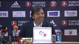 Trener Crvene Zvezde Andrija Gavrilović Pobede Protiv Himkija   SPORT KLUB KOŠARKA