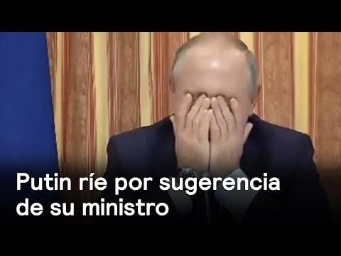 Download Youtube: Vladimir Putin se ríe de una sugerencia de su ministro de Agricultura - Despierta con Loret