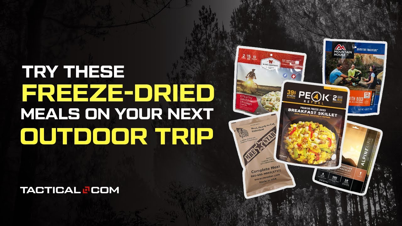 Freeze Dried Meal Backpacking Rotini With Meat Sauce Preppers Homemade Survival - Camping Just Add Water Meals