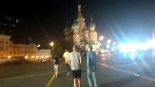 Москва 22 июня после матча Аргентина Хорватия. Красная площадь, Никольская улица.