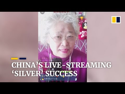 Elderly Chinese prove that live-streaming not just for young people