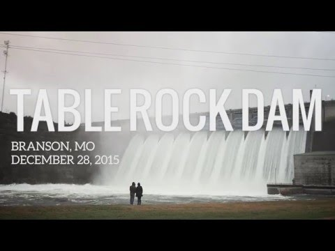 Table Rock Dam in Branson , MO opens all spillway gates! December 28, 2015