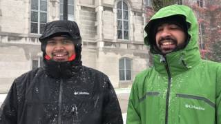 First storm of the season: Syracuse University international students' first experience with snow