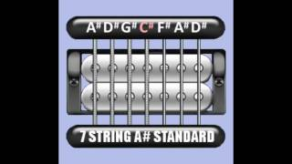 perfect guitar tuner (7 string a# / bb standard = a# d# g# c# f# a# d#)
