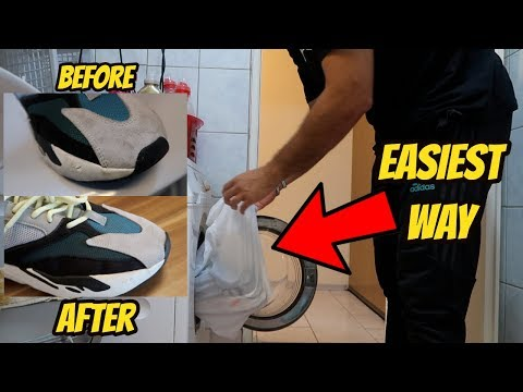 HOW TO WASH YOUR SNEAKERS IN THE WASHING MACHINE *YEEZY 700 WAVE RUNNERS*
