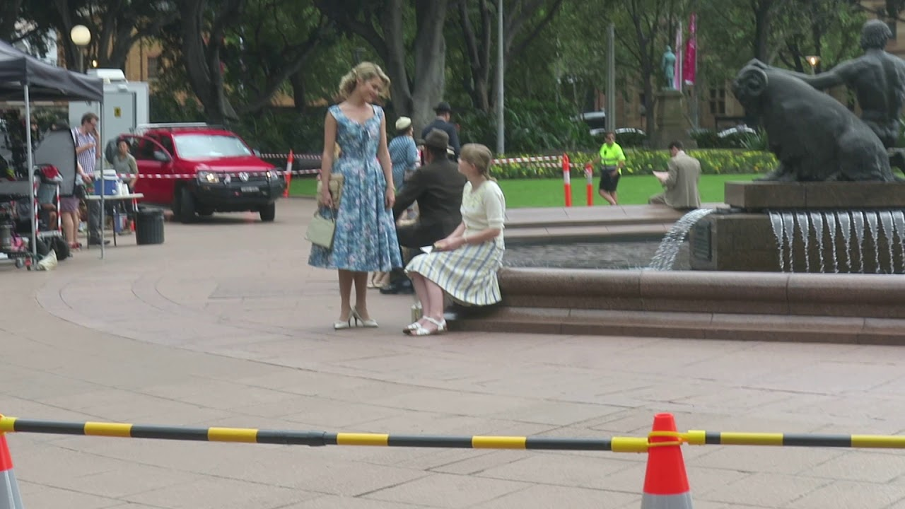 Rachael Taylor And Angourie Rice Filming Ladies in Black In Sydney