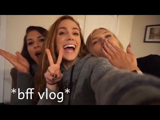 VLOGGING WITH MY FRIENDS + (KINDA) TRAINING SHOULDERS *funny*