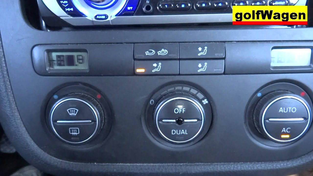 VW Golf 5 Climatronic reset ventilation flaps how to