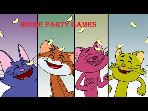 Cat & Keet | Funny Cartoon Videos | 'House Party Games' | Chotoonz