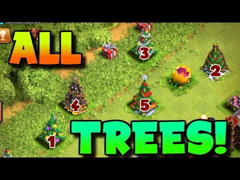 All Coc Christmas Trees.Clash Of Clans This Player Has Every Single Christmas Tree
