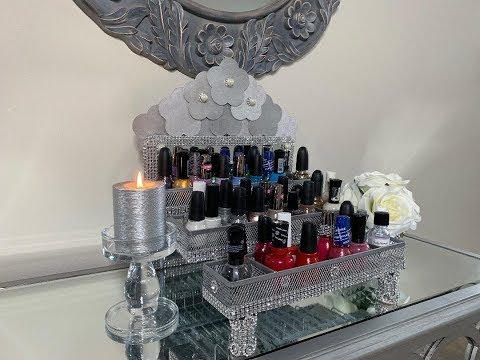 REQUESTED - GLAM DRESSER TOP NAIL POLISH ORGANIZER || DOLLAR TREE 🌲 DIY