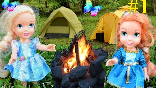 Video Anna and Elsa Toddlers Camping Adventure # 1 Disney Frozen Elsya and Annya Barbie Car Toys In Action download MP3, 3GP, MP4, WEBM, AVI, FLV November 2017