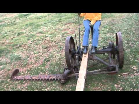 mccormick horse drawn mower first run