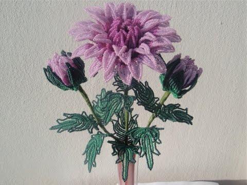 Хризантемы из бисера-работы из бисера