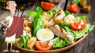 ЦЕЗАРЬ салат с КУРИЦЕЙ + СОУС для салата ЦЕЗАРЬ рецепт