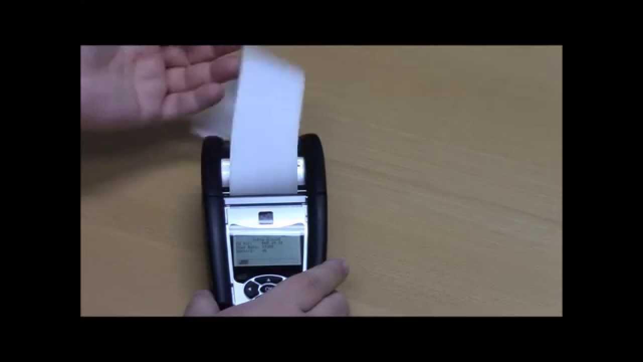 Loading Paper in the Zebra QLn220 Printer