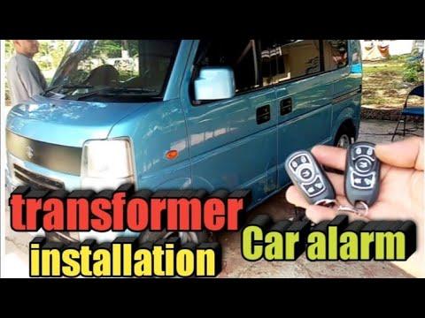 HOW TO INSTALL CAR ALARM TO TRANSFORMER VAN SUZUKI MULTICAB + tagalog tutorial