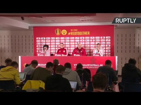 Пресс-конференция Черчесова перед матчем Россия — Бельгия в отборочном турнире Евро-2020