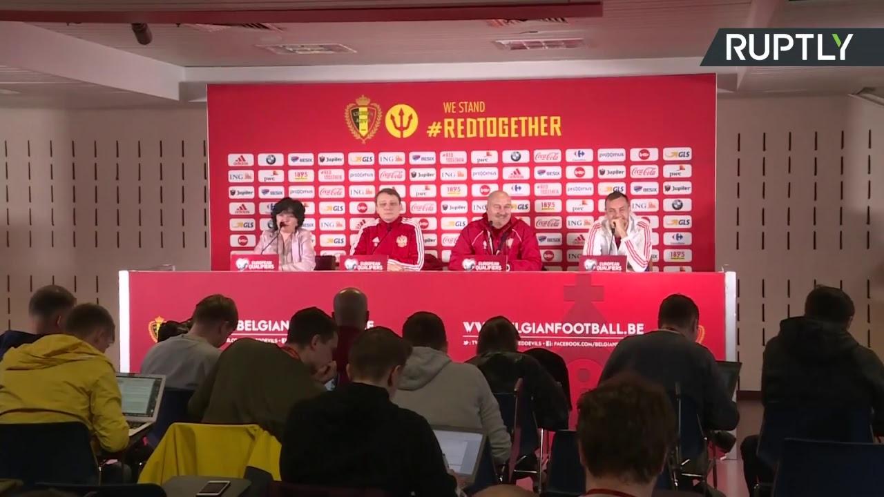 Евро-2020: Пресс-конференция Черчесова перед матчем Россия — Бельгия