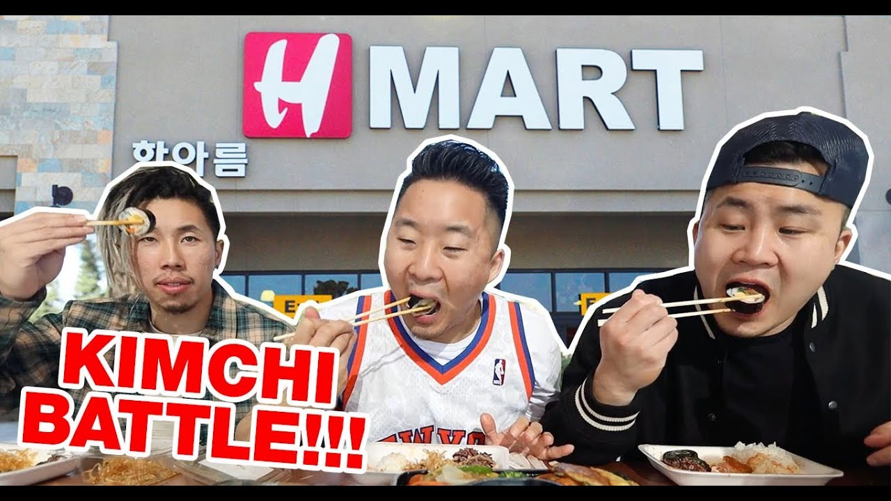 WHAT'S THE BEST KOREAN SIDE DISH AT H MART? WE EAT EVERY BANCHAN AT THE  DELI // Fung Bros