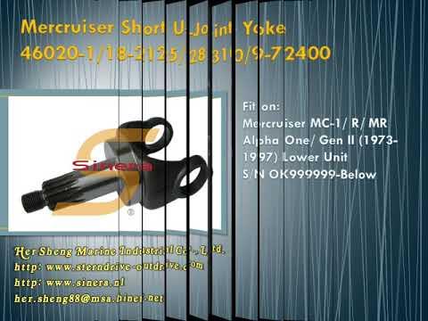 YOKE-SHORT STUB 46020 1 for ALPHA ONE STERNDRIVE