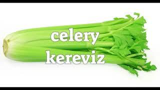 Vegetables Sebzeler   English Turkish   İngilizce Türkçe