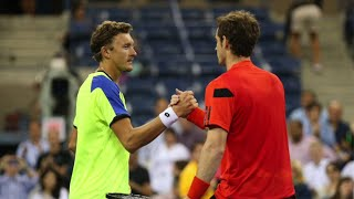 Andy Murray Amazing Mishit vs Denis Istomin | 2013 US Open, R4