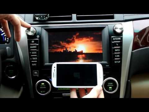 """Camry V50 7"""" - Беспроводное подключение Samsung к штатному головному устройству"""
