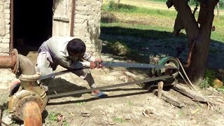New Way to Start up 25 Hp Peter Diesel Engine in Rural Area of Punjab