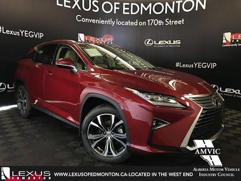 221c15e5cf73 Red 2017 Lexus RX 350 Luxury Package Walkaround Review East Edmonton Alberta