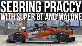 iRacing - 12 Hours Of Sebring Practice With Super GT & Malone