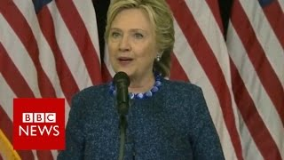 Hillary Clinton addresses FBI probe of new emails - BBC News