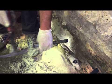 Восстановление кирпичной кладки методом инъектирования.