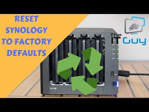 Synology - How to factory reset - YouTube