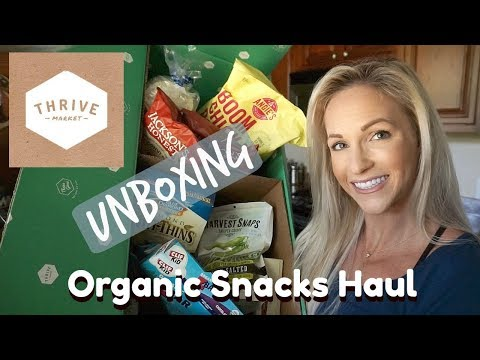 Healthy ORGANIC Snacks Haul & Unboxing