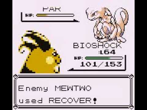 Pokemon Red-Catching Mewtwo