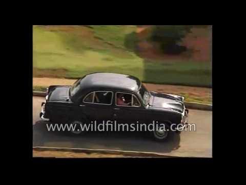 Morris Oxford look-alike Hindustan Ambassador car in India