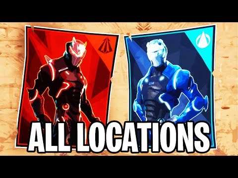 Spray On Different Carbide Or Omega Posters | ALL LOCATIONS Fortnite Week 6 Challenge