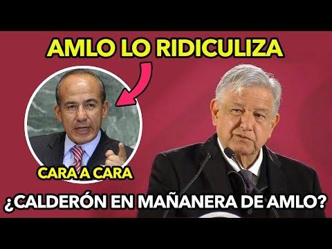 AMLO Para en seco a Felipe Calderón por querer debatir en conferencia ¡Lo dejó callado!