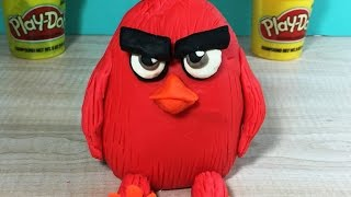 HOW TO MAKE RED (ANGRY BIRDS) WITH PLAY-DOH.. Granny B. and Play-Doh