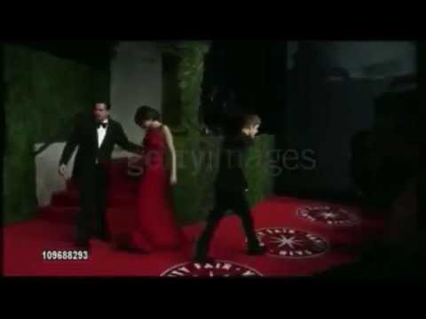 Justin and Sel at the Vanity Fair Oscar Party (February 27, 2011)